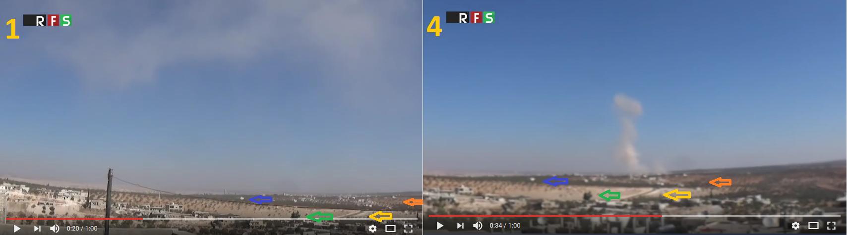 fake_luftangriff_syrien_faelschung_rfa_wolken_flugzeug_blauer_himmel