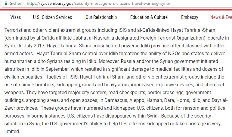 Syrienkrieg: Giftgas, Fassbomben, Chemiewaffen   Linke Zeitung